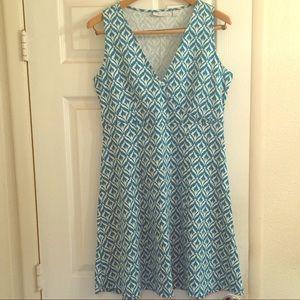 NY&Co Ikat Print Fit & Flare Dress
